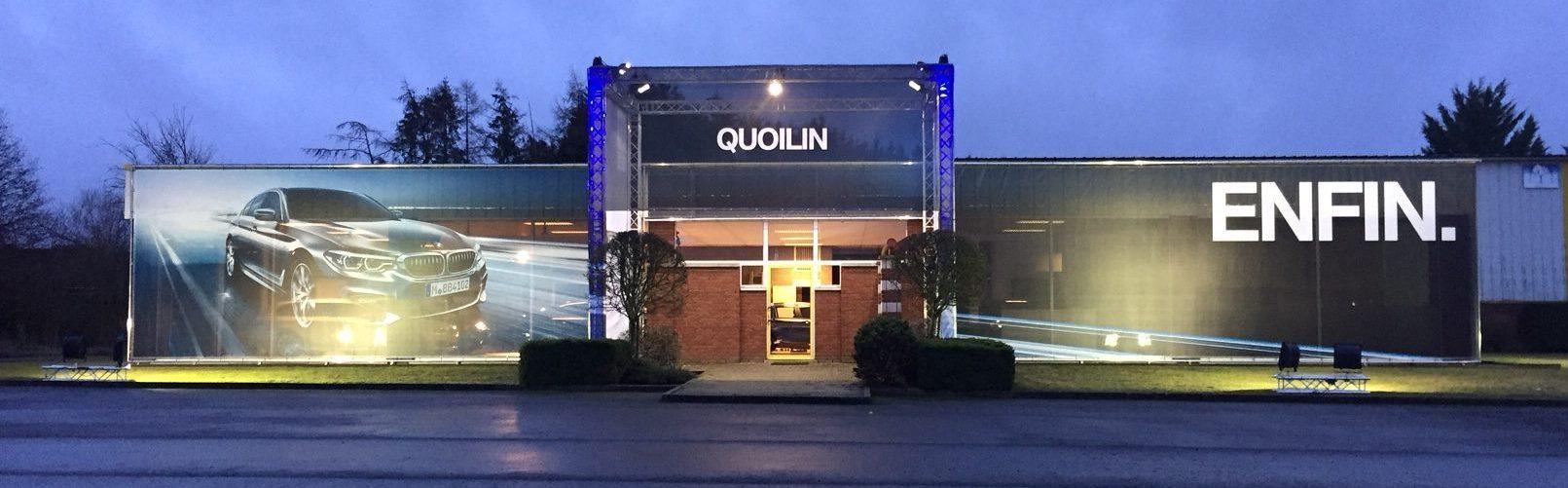 Aménagement d'un POP-UP Store pour le concessionnaire Quoilin