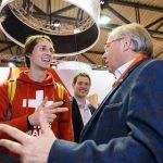 Gilles le Suisse avec André Antoine (Président du Parlement de la Wallonie)